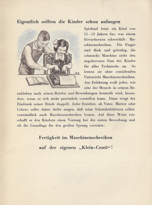 werbeprospekt um 1934 - Continental Bewerbung